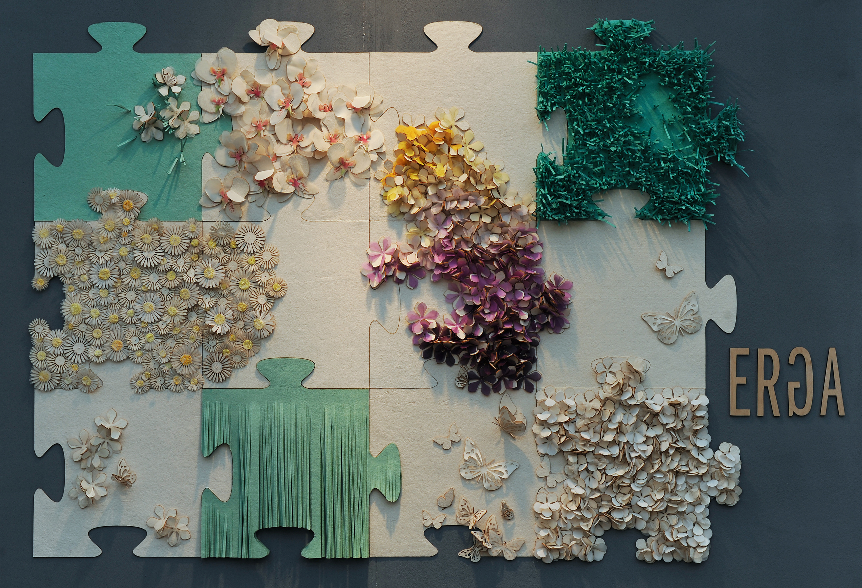 Magnet tapet fra 'the Surface Design Show' i London. Zero-Waste Land av Kristel Erga.