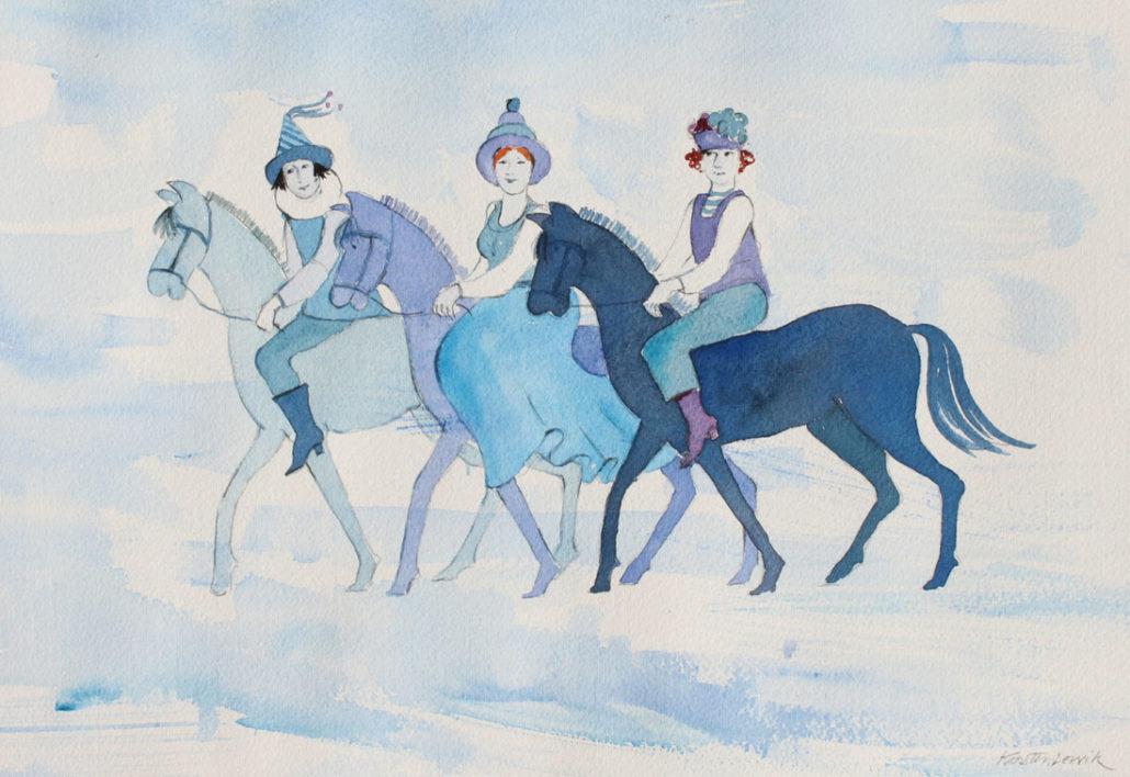 Tre til hest av Kirsten Lervik